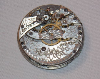 Antique 28mm Etched Pocket Watch Movement