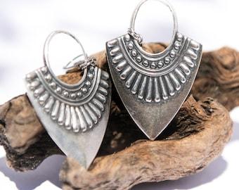 Gypsy Jewelry Bohemian Earrings Gypsy Festival Jewelry Boho Dangle Earrings Silver Boho Jewelry Gypsy Earrings Boho Woman Gift for Her