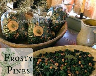 Frosty pins taille Jumbo pot-pourri sac Putka couleur vert et naturel des gousses pin Frosty parfumée parfum