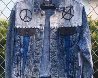 Make Art Not War Denim Jacket