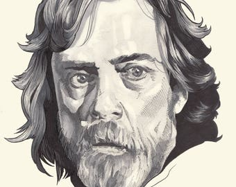 Luke Skywalker in Star Wars - The Last Jedi (Original Drawing)