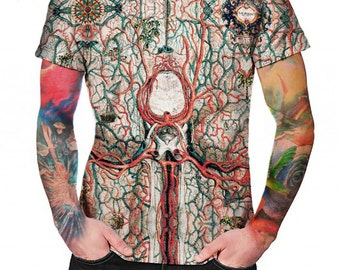 Anatomic Cartography - T-shirt - Full print Shirt