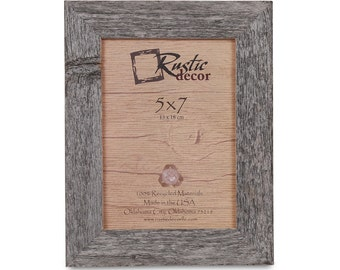 "5x7 -1.5"" wide Rustic Barn Wood Standard Photo Frame"