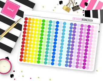 273 Tiny Dot Stickers for Erin Condren Life Planner, Plum Paper or Mambi Happy Planners || R1204