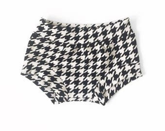 Black Checker Shorties