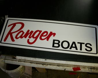 Ranger boats metal sign 24x8 inch