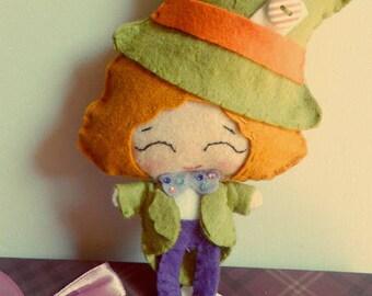 Mad Hatter, snowman pannolana doll