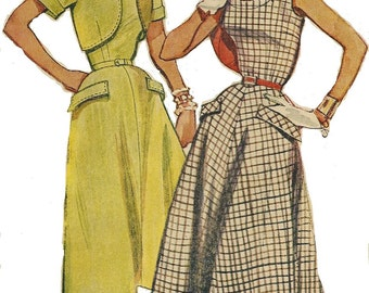 50s Womens One Piece Summer Dress and Bolero Simplicity Sewing Pattern 4710 Size 16 Bust 34 Vintage 50s Sewing Patterns Rockabilly Dress
