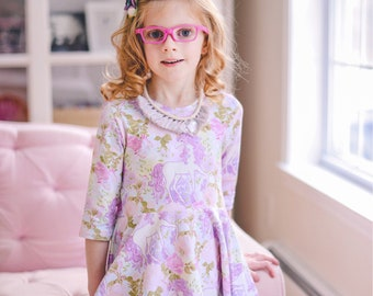 Girls unicorn dress - unicorn party dress - toddler unicorn dress - girls dress with unicorns - girls dress for spring - toddler dress