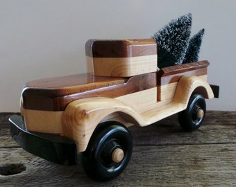 Wood Toy Truck-Handmade-Push Pull Toy