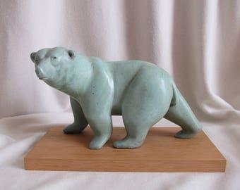 BEAR paw white Bronze