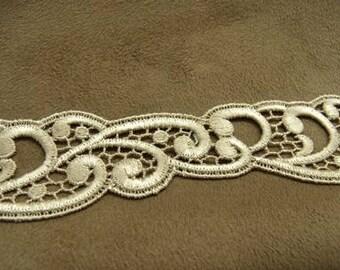 lace 3 cm - beige