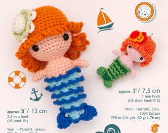 Free Crochet Amigurumi Mermaid Pattern : Pattern double heart crochet pattern amigurumi pattern