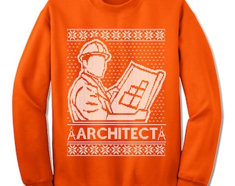 Architect Ugly Christmas Sweater. Gift. Builder Ugly Sweater. Sweater. Jumper. Ugly. Pullover. Christmas.