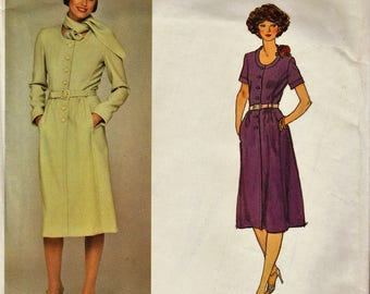 Vogue Paris Original 1392 / Vintage Designer Sewing Pattern By Pierre Balmain / Dress / Size 18 Bust 40