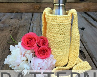 Peek-A-Boo Water Bottle Carrier Crochet Pattern