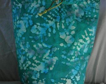 NEW KIP Bag  Aqua Batik