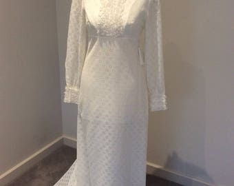 Vintage 1970's wedding gown by 'Palmers Ltd'