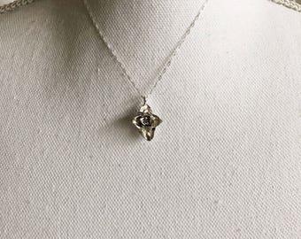 Sterling Silver Cast Succulent Necklace