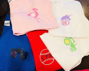 Kids monogram tshirts