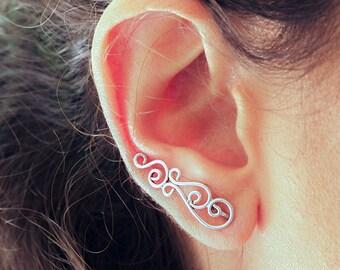 Ear Climber // Silver Ear Cuff // Ear Crawler // Ear Sweeps // Ear Jacket // Celtic Knots Earrings // Celtic Climber // Ear Climber Earrings