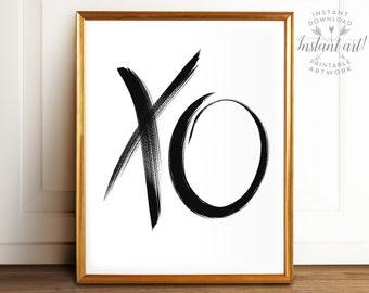 XO PRINTABLE art, Modern Decor, Digital Prints, Minimalist Art, Brushstroke Art, Brushstroke Print,Abstract Art, Contemporary Art,Modern Art