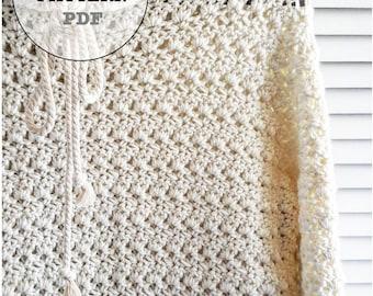 Crochet Pattern / Sweater Pattern / Hoodie Pattern / Crochet Hoodie Pattern / Whiteowlcrochetco Newport Hoodie