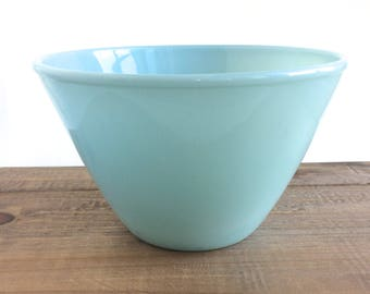 Blue Fire King Bowl - Blue Fire King Mixing Bowl - Fire King Delphite Bowl - Delphite Mixing Bowl - Splash Proof Mixing Bowl - Blue Bowl