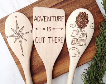 Adventure Is Out There Wooden Spoons, Up The Movie, Pixars Up, Wedding Gift