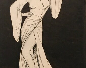 Edith Leach - LILI DAMITA Flapper Portfolio- Miss Fisher's Original Vintage Deco Jazz Age 20s pinup Fashion Illustration collection Vanguard