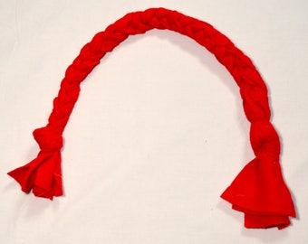 "Dog Tug 20"" Fleece, Braided, Dog Toy - Red"