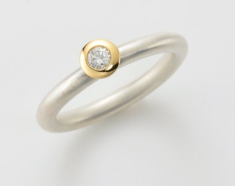 COCKTAIL - RING Diamant, Verlobung, Ehering, Hochzeit, Verlobungsring Set, Stapelring, mehrere Ringe, Diamantband, Valentinstag Geschenk