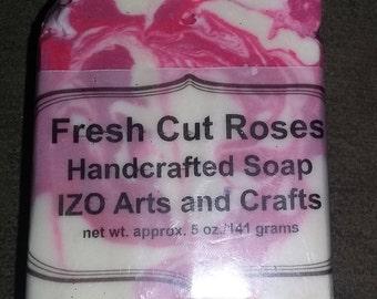Fresh Cut Roses Cold Process Goat Milk Soap