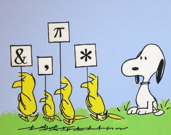 snoopy and birds peanuts comic