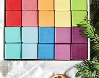 Rainbow wooden blocks set | Wooden blocks | Building blocks set