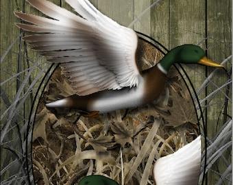 Duck Hunter Camo Blades Cornhole Wrap Bag Toss Decal Baggo Skin Sticker Wraps