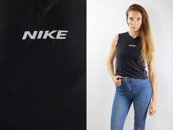 Nike Top Black Nike Shirt Vintage Black Nike Top Vintage Nike Shirt Nike Black Top Nike Shirt 90s Nike Top 90s Black Shirt Nike Gym Top