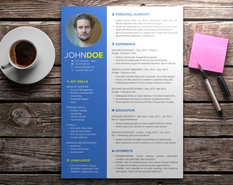 Modern Resume Template | Professional CV Design | Microsoft Office PowerPoint | Full Width & Easy to Customize | Instant Download