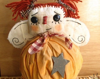 primitive rag pumpkin angel epattern pdf