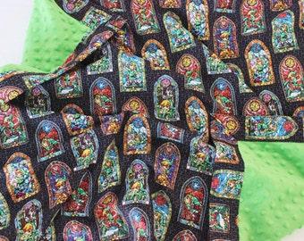 Zelda Stained Glass Baby Blanket, Zelda Baby Blanket, Legend of Zelda Baby Blanket, Baby Blanket, Minky Baby Blanket, Legend of Zelda Baby