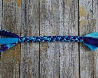 Durable Dog Toy - Fleece Rope Dog Toy - Blue and Purple - Medium / Large