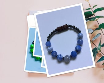 Fifth Chakra Point -Hematite Balancing Bracelet