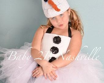 Frozen Snowman Costume  Toddler Snowman Tutu Costume Baby Snowman Tutu Girls Snowman Tutu Costume