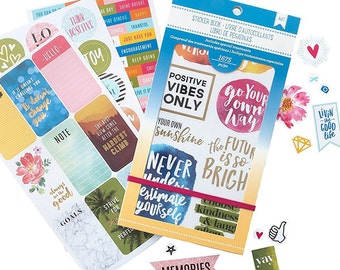 American Crafts Planner Stickers Book These Inspirational Life 1675pcs (92966)