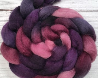 Handpainted Superwash BFL Nylon 80/20 Sock Roving - 4 oz. METEOR SHOWER - Spinning Fiber