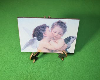 ON SALE  Picture of Two Angels that Comes with Its' Own Stand