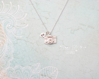 Silver or gold camera necklace. Photographer necklace. Photographer gift.
