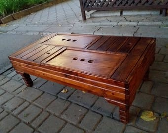 Tea Table 40*85 Yixing Tea Ceremony Chinese Traditional W/ Removeable Legs & Niche For Pots And Cups