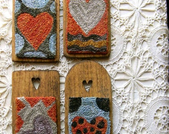 Crazy Hearts ~ 4-in-1 Punch Needle Pattern from Notforgotten Farm™ ~ PDF/INSTANT DOWNLOAD