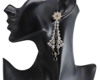 Cubic Zirconia Designer Classic Dangle Earrings 1701 24E 54